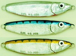 Crippled Herring fishing lure for Bass, Blues, Bonito, Albacore, and Spanish Mackerel